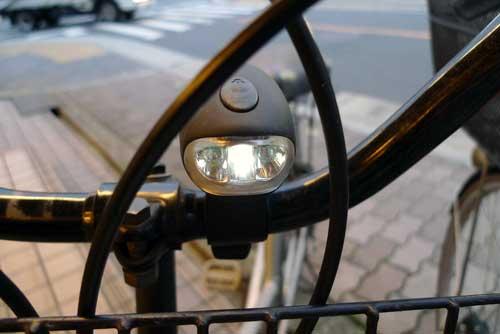 自転車用 手回しLEDライト 1灯