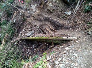 カトラ谷木道崩壊
