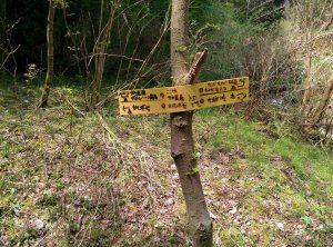 サネ尾道の下入口表示